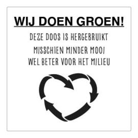 Sticker - Wij doen groen! - recycle - per stuk