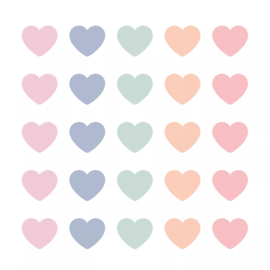 Stickers - Sow&Grow Mini Hearts - pastel - per 10 stuks