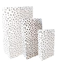 Blokbodemzakje - 101 Dots - kraft - per stuk (14x8x26cm)