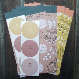 Inpakset - 12-delig - Flowers big