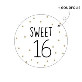 Stickers - SWEET 16 - per 10 stuks