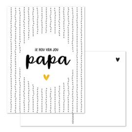 Kaart - Ik hou van jou PAPA 💛 - goudfolie