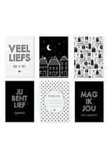 Minikaartjes - Sint - cadeaukaartjes - 6 stuks