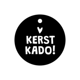 Label - Kerst - Kerst Kado! - rond