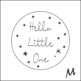 Stickers - Hello Little One - per 10 stuks