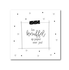 Dubbele kaart incl. envelop - Een knuffel op papier voor jou!