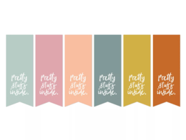 Stickers - vaantje - pretty stuff inside. - per 6 stuks