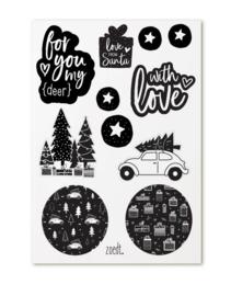 Stickers - Kerst - cadeaustickers - 20 stuks