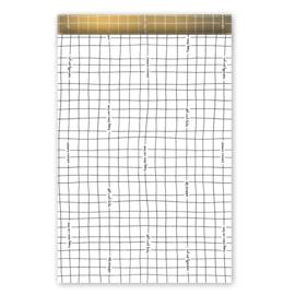 Kadozakje - Wishing you the best - wit/goud - per 5 stuks (17x25cm)