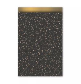 Kadozakje - Twinkling Stars - zwart - per 5 stuks (17x25cm)