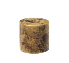 Kandelaar - mini voor potloodkaars - bruin