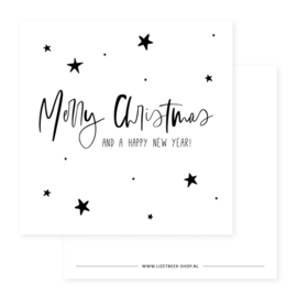 Minikaartje - Kerst - Merry Christmas and a happy new year!