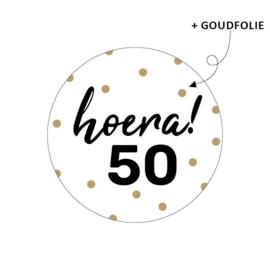 Stickers - hoera! 50 - per 10 stuks