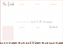 Planner - Weekly planner - A4