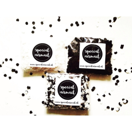 Confetti - zwart / wit
