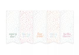 Stickers - vaantje - Sow&Grow pastel - holografisch - per 10 stuks