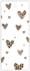 Kadokaartje - Hartjes panterprint