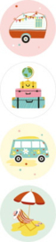 Stickers - Summer Holiday - assorti - per 10 stuks