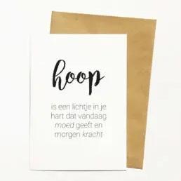 Kaart & Envelop - Hoop