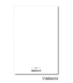 Minikaartje - Hartstikke bedankt juf!