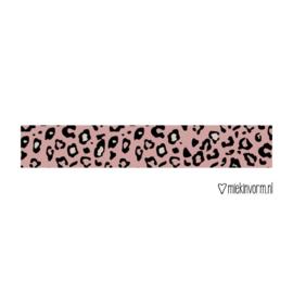 Washi / masking tape - Panter - donkerroze