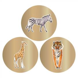 Stickers - Jungle goud - per 6 stuks
