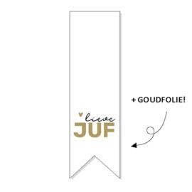 Sticker - lieve JUF - per stuk