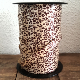 Lint - krullint print panter / leopard 10mm - 3m
