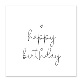 Minikaartje - happy birthday 🤍