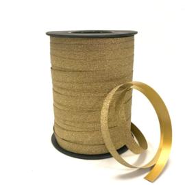 Lint - goud glamour - glitter - per 3 meter