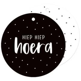 Label - Hiep Hiep Hoera - rond