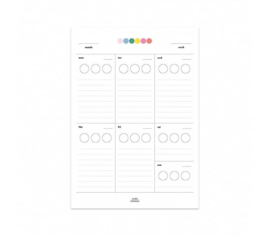 Planner - Sticker weekplanner - A5