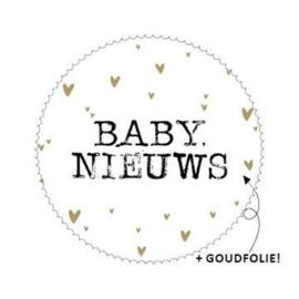 Stickers - baby nieuws 💛 - per 10 stuks