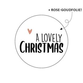 Stickers - Kerst - A lovely Christmas - per 10 stuks