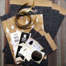 Set - Kerst - Inpakwaren Twinkling Stars & Lovely Trees - 19-delig
