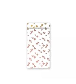 Kadozakje - Solo hearts - rosé/goud - per 5 stuks (7x13cm)