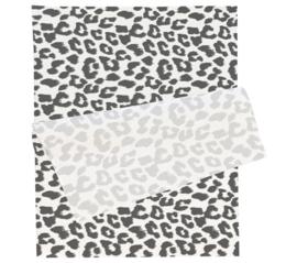 Tissue paper / Vloeipapier - Leopard zwart / wit - per 5 stuks (brievenbuspakket)
