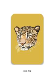 Minikaart - Panterkop geel