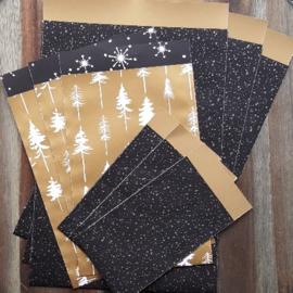 Set - Kerst - Twinkling Stars & Lovely trees zakjes - 9-delig