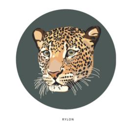 Stickers - Panterkop - per 5 stuks