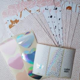Stickers - Sow&Grow Hearts - pastel - per 10 stuks