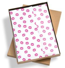 Tissue paper / Vloeipapier - Kiss me Tender - per 5 stuks