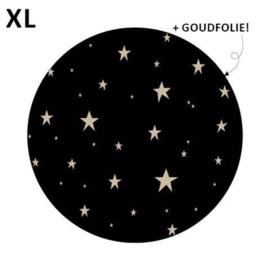Sticker - Little stars XL - zwart - per 5 stuks