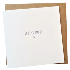 Kaart & Envelop - Ik denk aan je