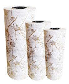 Tissue paper / Vloeipapier - Berenklauw - goud - op rol - 2m
