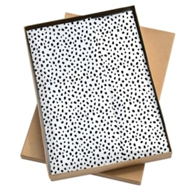 Tissue paper / Vloeipapier - 101 dots - 50x35cm - per 5 stuks