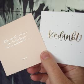 Minikaartje - Bedankt! - goudfolie