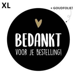 Stickers - Bedankt voor je bestelling! - XL - zwart - per 10 stuks