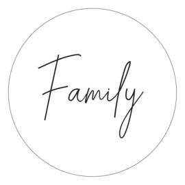 Muurcirkel - Family - wit - 20 cm