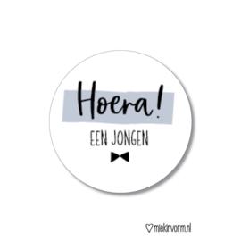 Stickers - Hoera! Een jongen - per 5 stuks